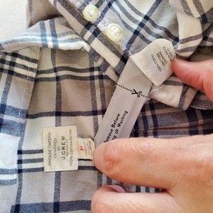 J. Crew Tops - J Crew Vintage Oxford plaid button down shirt